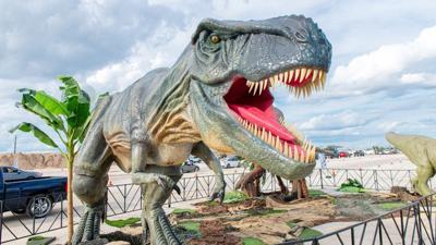 Jurassic Quest Drive Thru at Gila River Arena in Glendale.