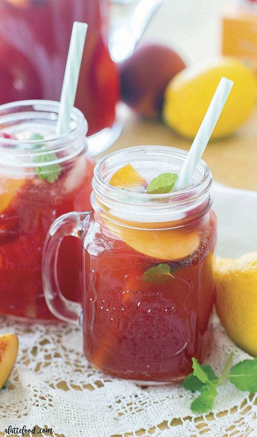 Rasberry Peach Iced Tea
