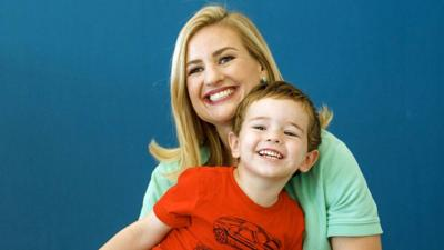 Mayor Kate Gallego and son Michael
