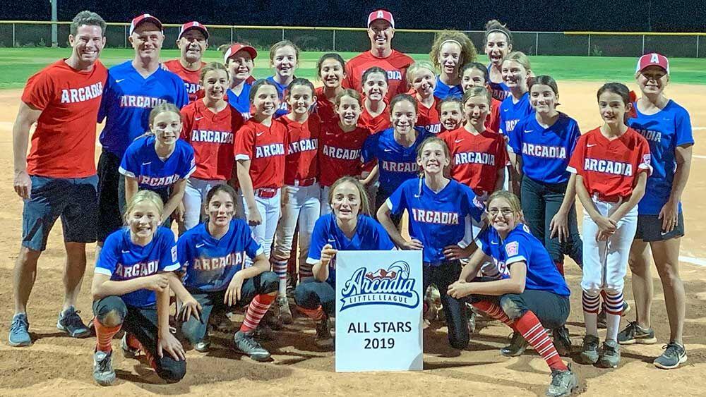 2019 Arcadia Little League softball All Stars