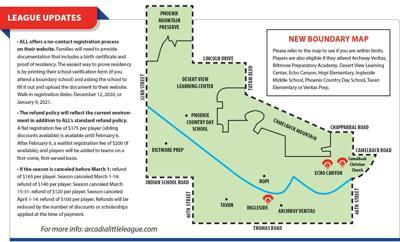 Arcadia Little League Border Map