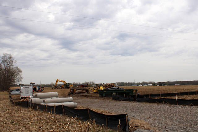 Solar project takes shape in Caledonia Twp.