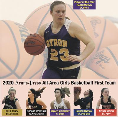 2020 All-Area Girls Basketball First Team