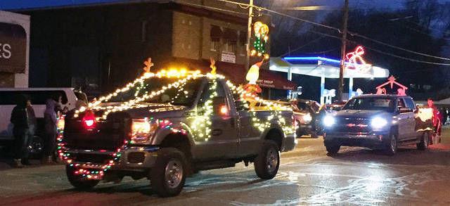 Hot cocoa and Christmas lights
