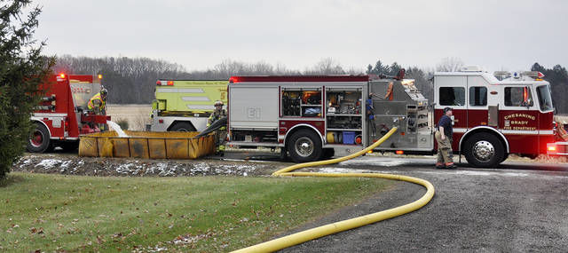 Fire heavily damages home