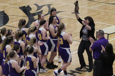 GIRLS BASKETBALL: Byron makes history, beats Laingsburg for first district title