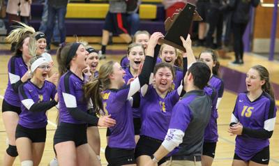 Byron volleyball team district champs