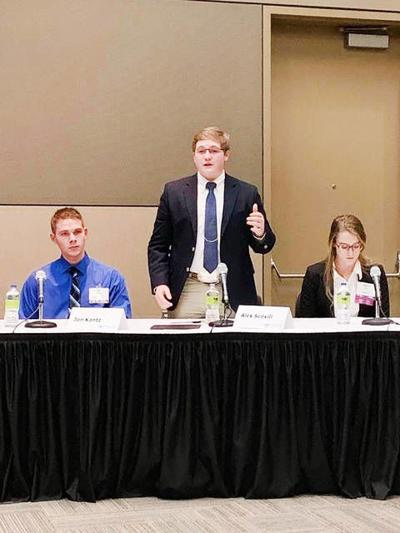 Scovill earns second place in state discussion meet