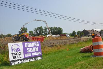 Durand Taco Bell construction continues