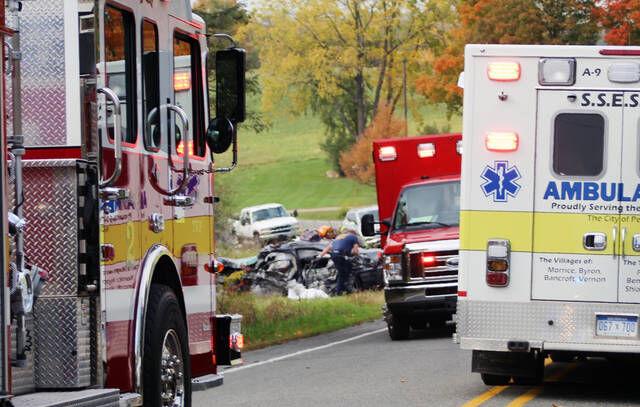 Saturday crash kills man, injures girl