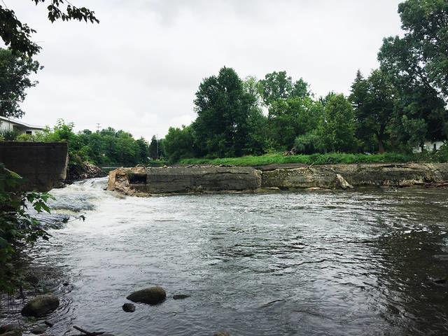 Dam work underway