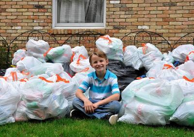 Boy with 'can' do spirit aims to help community