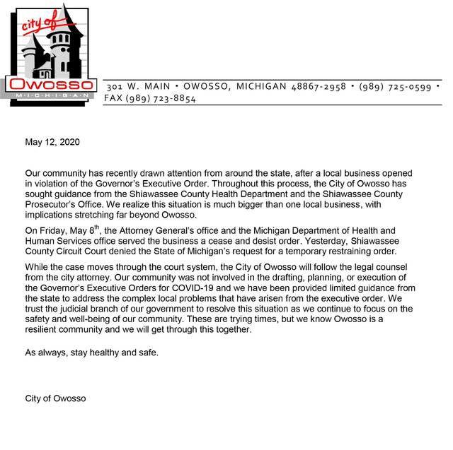 City statement