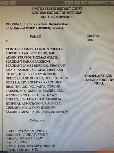 Family of Ovidman sues Clinton County over inmate death
