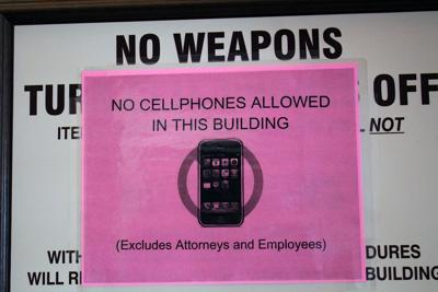Cellphones in courtrooms