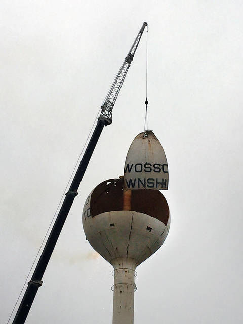 Tower comes down