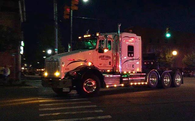 Saturday parade lights the night