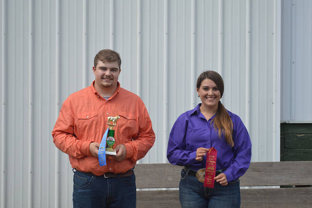 Youth sheep market and showmanship winners named