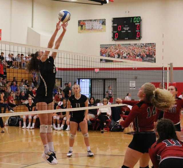 VOLLEYBALL: Corunna goes 3-0 at Laingsburg Quad