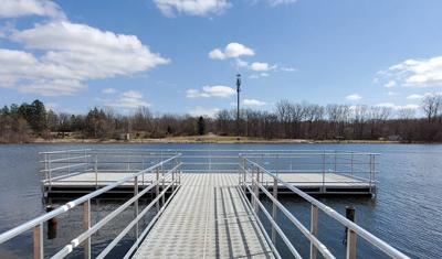 New fishing dock installed at Hopkins Lake