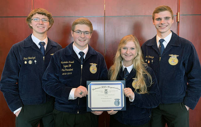 Perry FFA students honored at convention