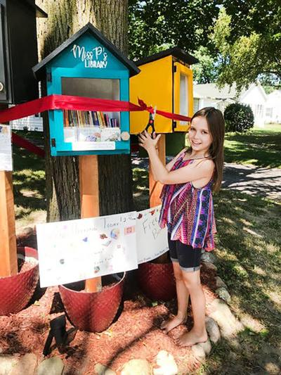 Family opens 'library' in honor of daughter's birthday
