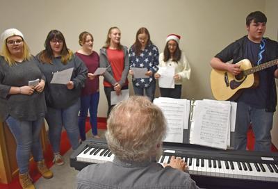 Choir pops in on board meeting