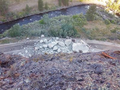 Rock removal to start Monday to reopen U.S. 95 at the slide south of Riggins
