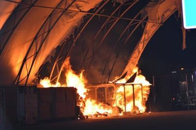 Weiser recycling fire