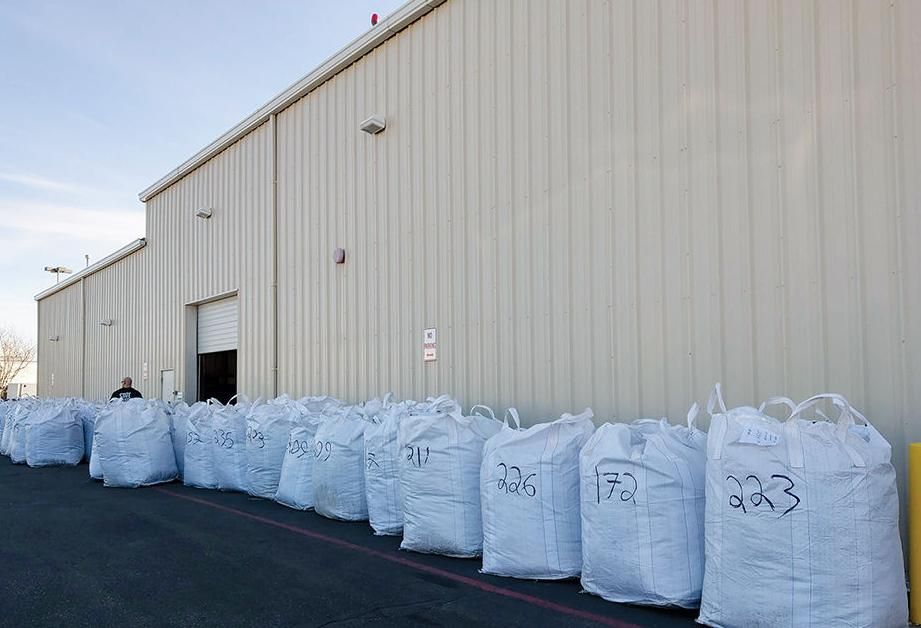 31 bags containing 6,700 pounds of pot