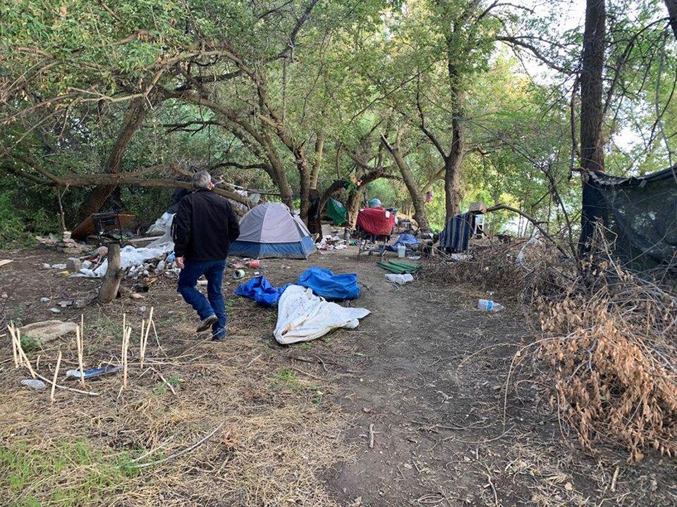 Homeless camp Ontario