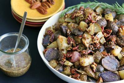 Herbed pecan potatoes