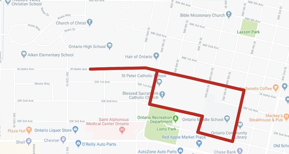 OHS parade route