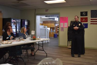 New police chief talks with residents over lunch