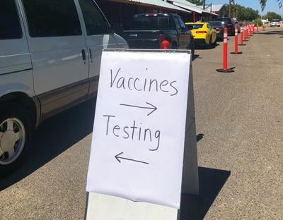 Free vaccines and testing