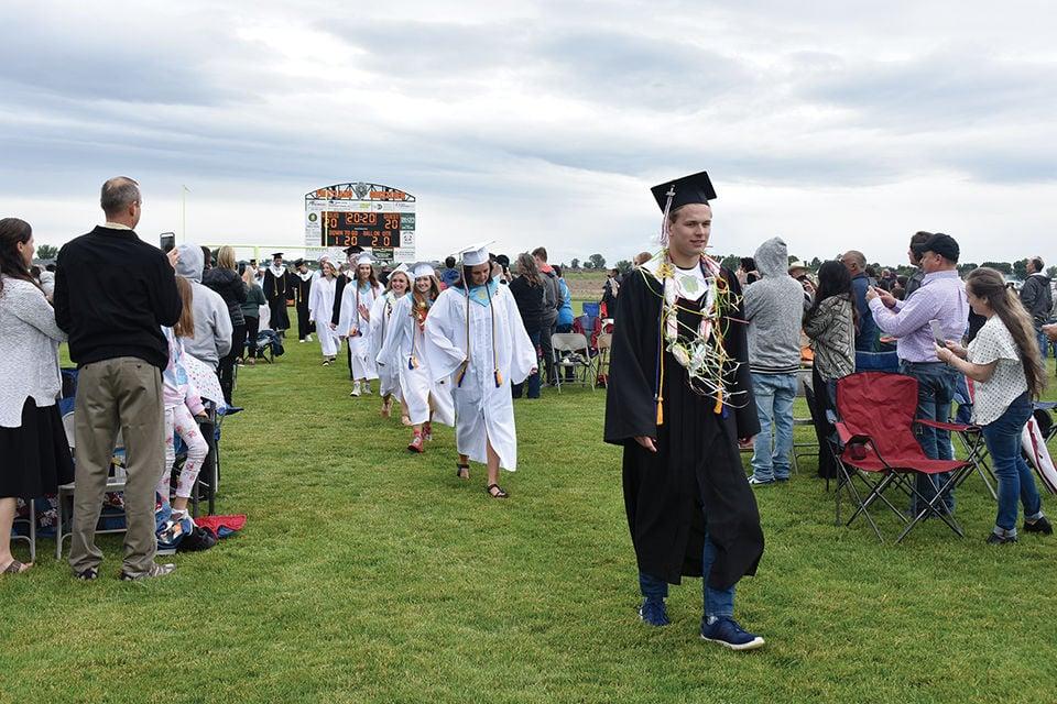Graduating in the rain