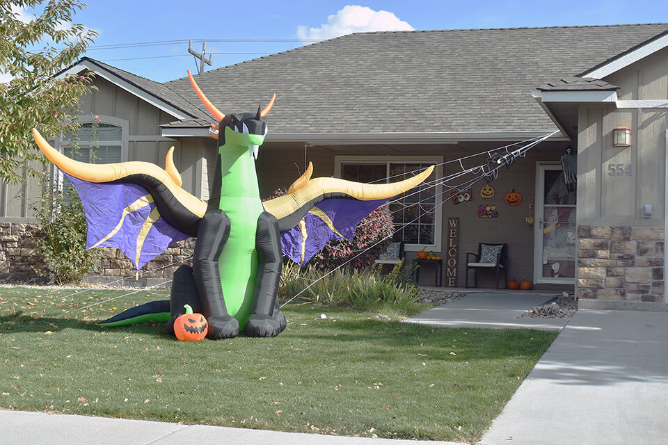 Inflatable decorations for the holiday