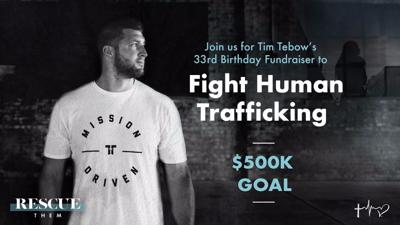 Tim Tebow deepens his commitment to the fight against human trafficking