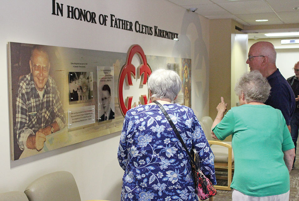 Hospital dedicates wall to priest known by parishioners as 'Father Kirk'