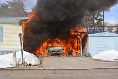 Fire damages Weiser man's car and home