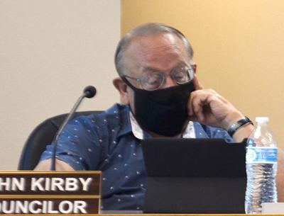 Councilor John Kirby explains for public record