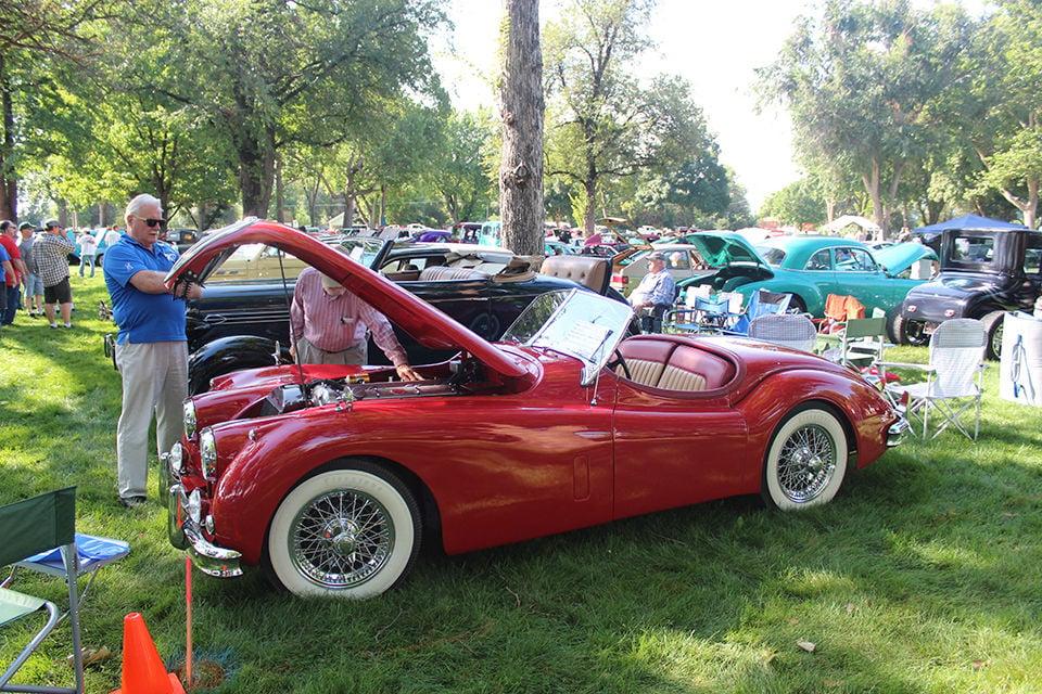 A 1955 Jaguar.