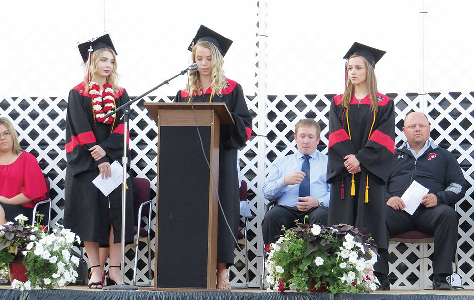 Class of 2019 Valedictorians Grace Hanigan and two others