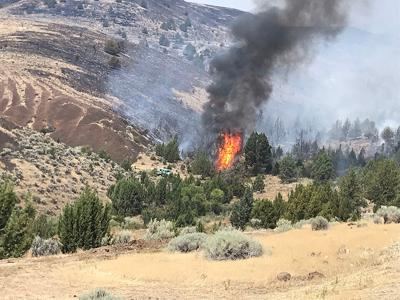 Vale BLM crews continue work on fires, reaching full containment on 1 of 3 blazes