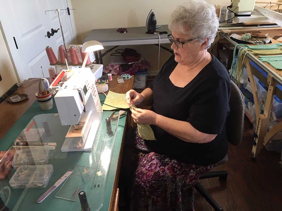 Local Latter-day Saints sew for health-care workers