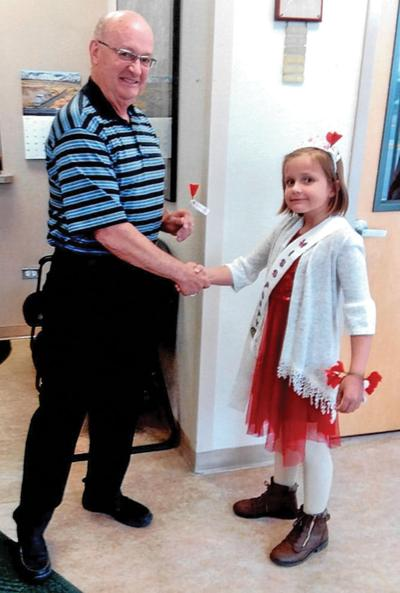 Miss Poppy meets area mayor