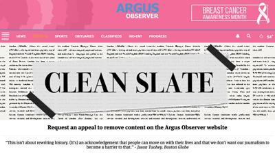 Clean Slate: Newspaper launches appeals process for crime reporting