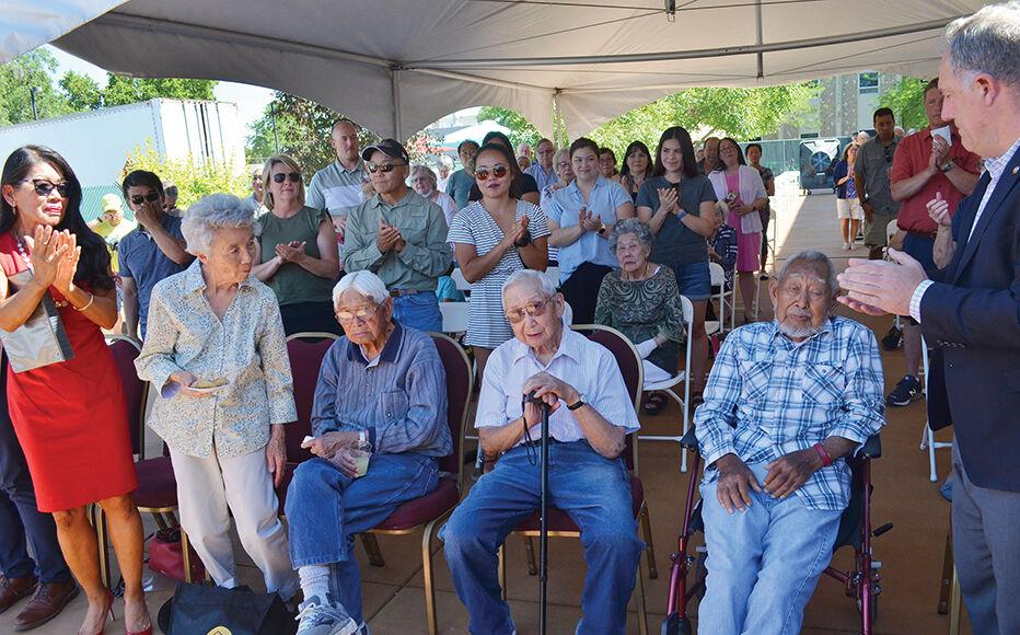 3 Nisei veterans from WWII attend unveiling ceremony