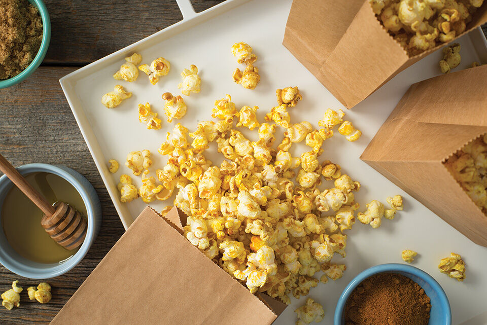 Sweet and Savory Curried Popcorn