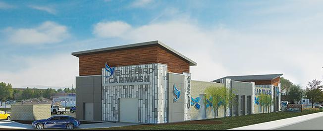 Rendering of Bluebird Express Car Wash in Boise